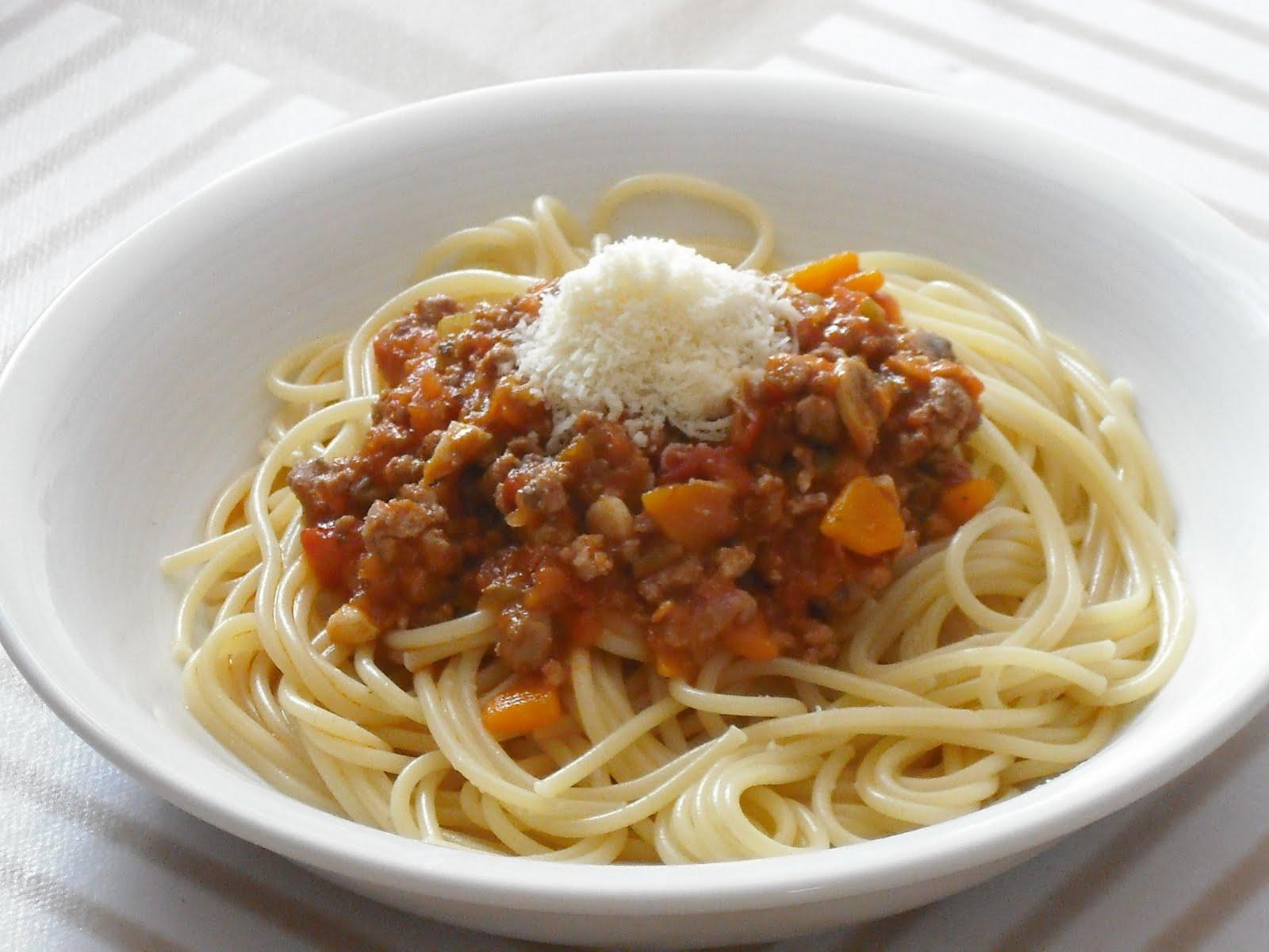 Pasta con verduras y carne Dieta Luzón