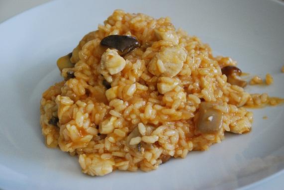 Receta de arroz con setas y pollo dieta luz n dieta luz n for Arroz con setas y trufa