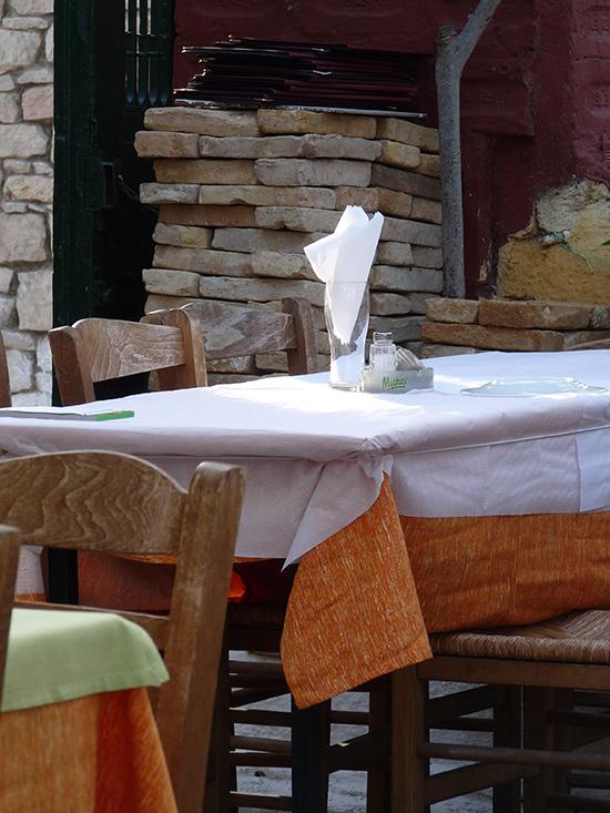 comer en un restaurante